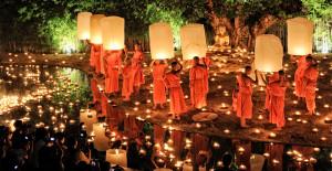 Thai candle Scene